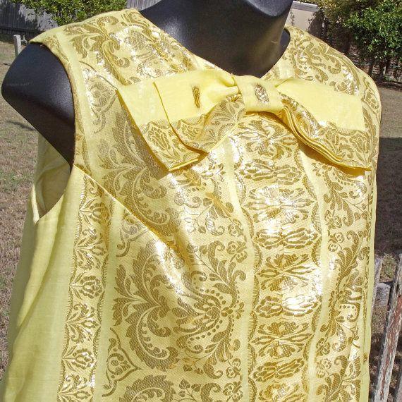 Elegant Vintage Evening Gown Size SM 60s MOD by VintageSquirrels, $112.95