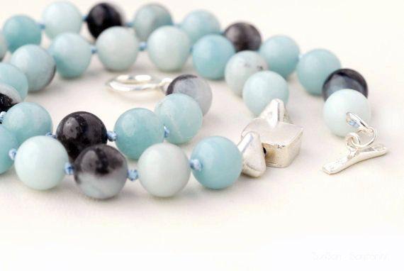 Elegant Light Blue Amazonite Necklace