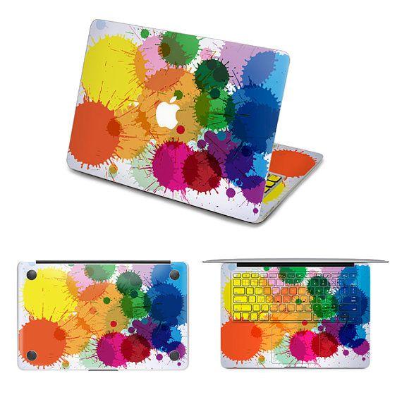 rainbow stickers macbook decals laptop macbook pro skin macbook air sticker laptop macbook decal macbook keyboard cover