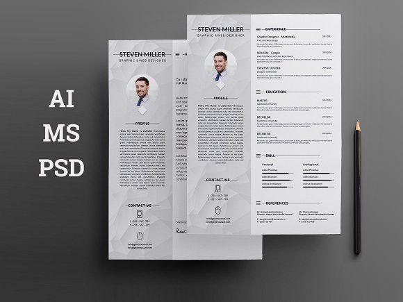 Resume ( MS Word ) by Creative Idea on @creativemarket