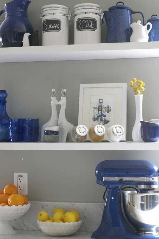 Stacy Christophs Classic San Francisco Hilltop Home Blue Kitchen DecorKitchen DecorationsBlue AccessoriesBlue