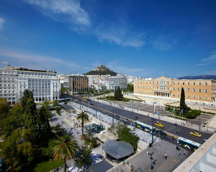 Syntagma and the Parliament building, Athens.