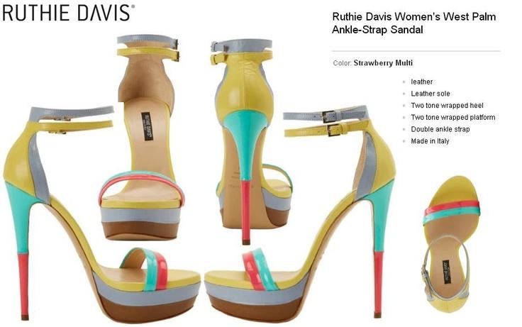 Ruthie Davis Women's West Palm Ankle-Strap Sandal are the perfect blend of tech and fashion. http://www.amazon.com/dp/B009E7GJPK/?tag=pinterest0e50-20