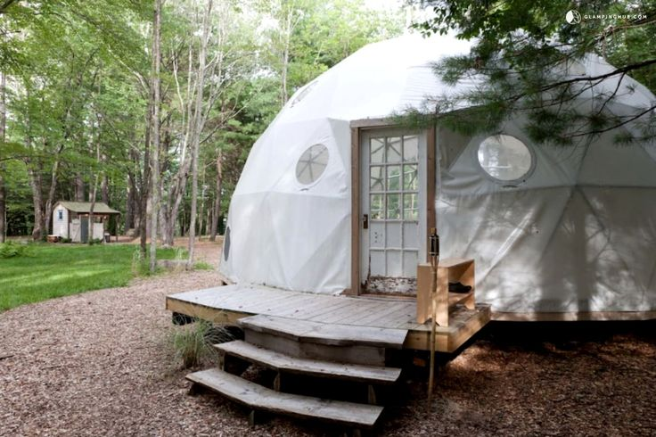 Unique Dome, Caravan, and Tiny House Rental for a Group Vacation in the Catskill Mountains