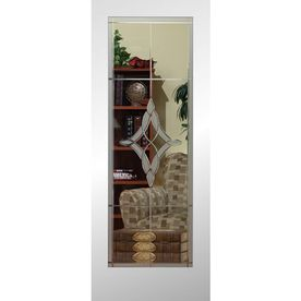 Reliabilt Full Lite Etched Glass Pine Slab Interior Door Common 24 I Etched Glass Interior