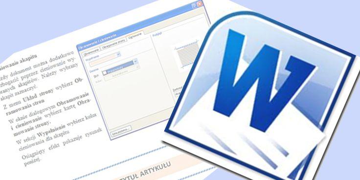 Tworzenie dokumentów od A do Z (MS Word 2010)