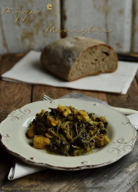 PIZZA E MINESTRA (Molise): a first course suitable for cold winter nights, based on cornmeal and field vegetables