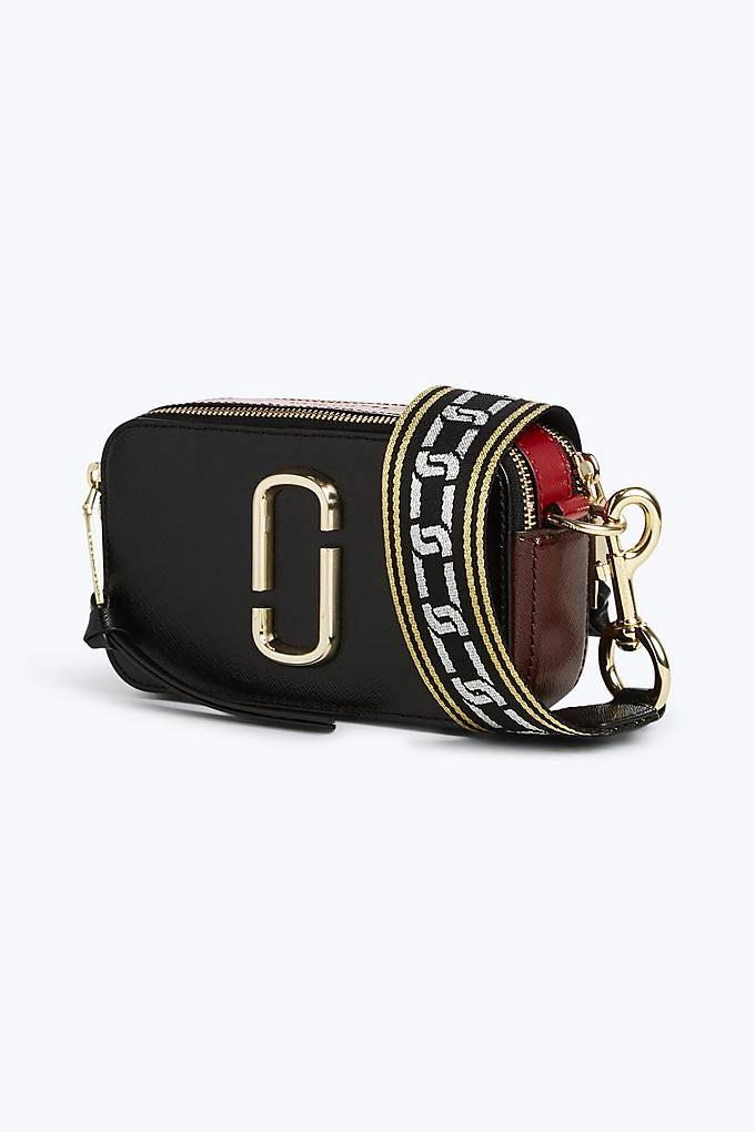 5b99522661 Marc Jacobs Snapshot Small Camera Bag in Black/Chianti   Marc Jacobs ...