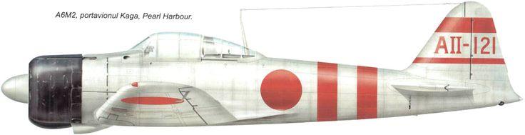 Часть: 1-й коку кантай, 1-й коку сентай Номер: AII-121 Самолет с авианосца Кага. Участник налета на Перл-Харбор, 7-е декабря 1941 г.   Самолет возглавлявший вторую волну - Бунтайчо. Пилот - лейтенант Йасуши Никаидо. Машины второй волны обстреляли аэродромы Хикам и Уиллер. Они претендуют на уничтожение 26 американских самолетов на земле. Сами они потеряли 4 истребителя.