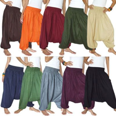 Harem pant alladin style very comfortable 10 colors lowest on etsy baggy genie boho