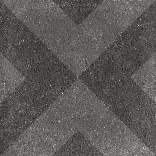 Carrelage sol et mur anthracite effet ciment arlequin l 20 for Carrelage anthracite