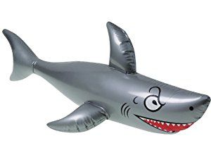 "Amazon.com: One 40"" Long Vinyl Inflatable Shark: Toys & Games"