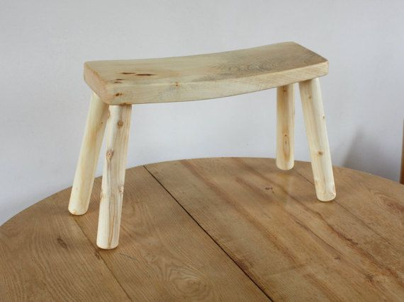 Small wooden bench for sauna, kitchen or living room - Wooden stool - Housewarming - Wood furniture - Small wooden Bench for Bathroom