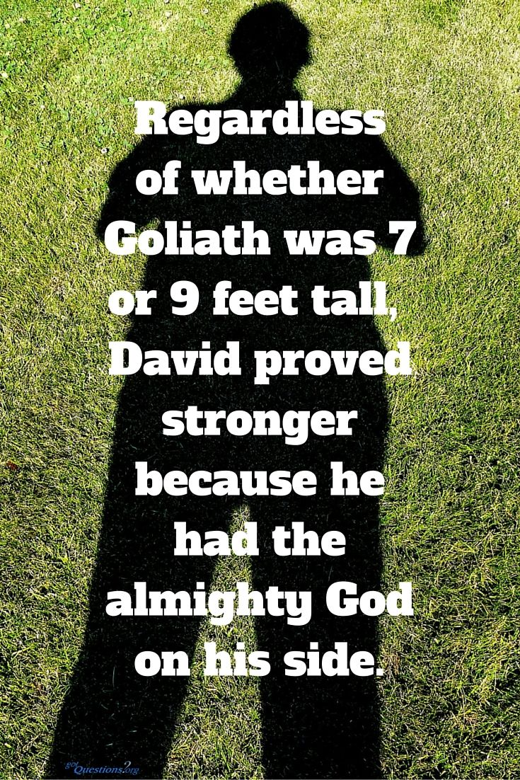 How tall was goliath and why are there discrepancies about his hight between