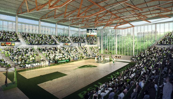 Making of 'Viking Pavilion' NPR / Daytime Basketball Game - 3D Architectural Visualization & Rendering Blog