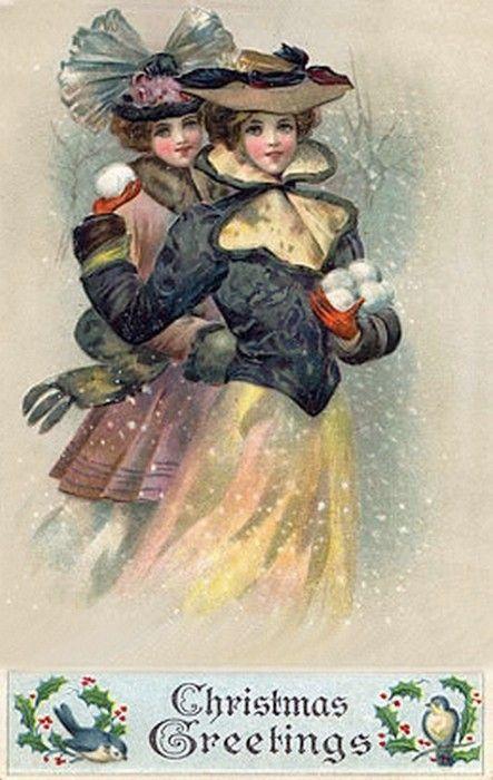 Old Christmas Card — (443x700):
