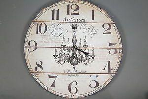 MONTEMAGGI Orologio circolare da parete in legno decorato. country ...