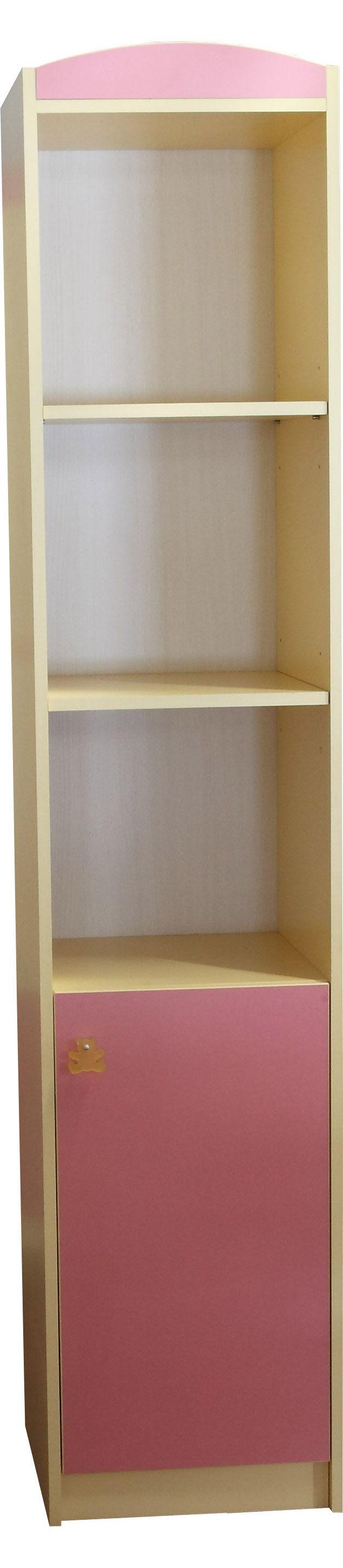 Шкаф книжный (модуль №6) РАДУГА (Желтый+розовый)