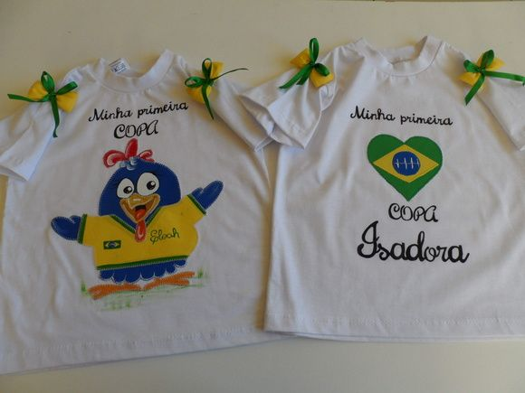 3a0d76bbde Camiseta infantil Brasil. | Camisetas personalizadas | Camisa copa ...