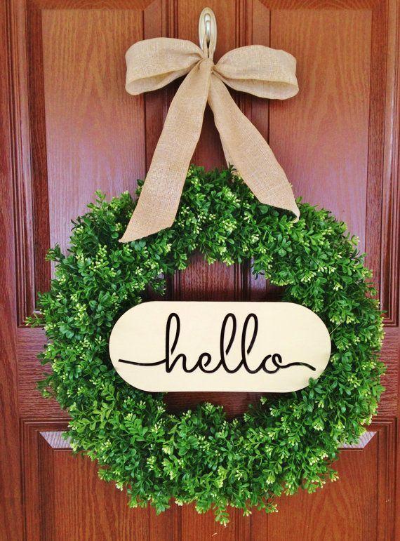 boxwood 'Hello' wreath