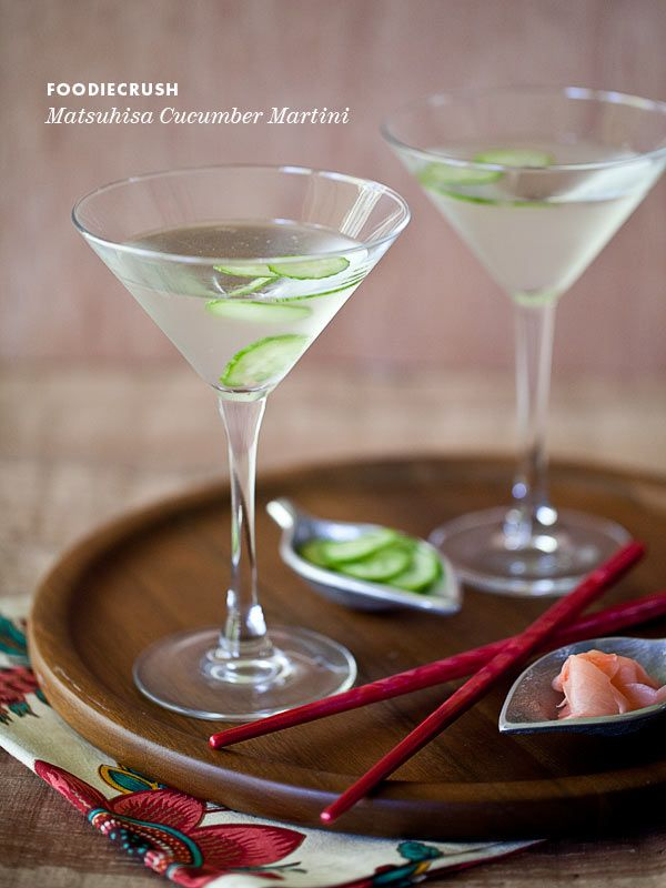 Matsuhisa Martini | This cocktail has become our go-to drink—summer or winter—hands down. The fact that we have such fond memories of savoring the most delectable hamachi, yellow tail sashimi and the most perfect uni while rubbing elbows and swapping stories with A-list celebs as the line outside grew longer and longer doesn't hurt much either. | From: foodiecrush.com