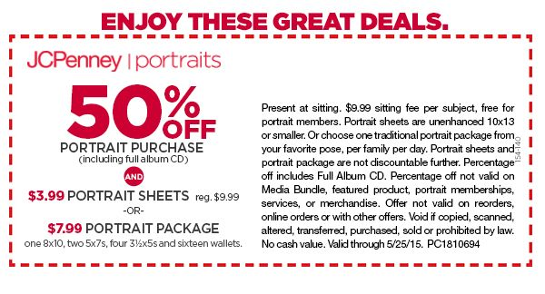 Jcpenney portrait coupons cd - Gardening freebies