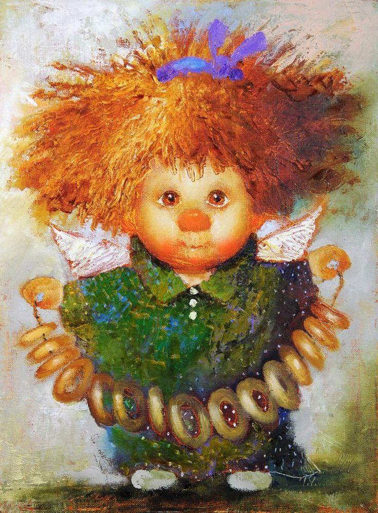 Рыжая девочка открытки, анимация подарок прозрачном