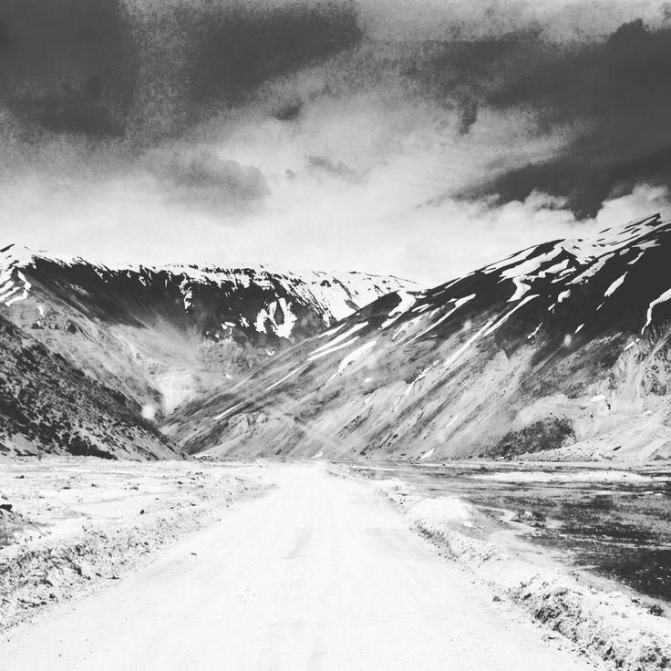 Cajon del maipo chile cordillera black and white