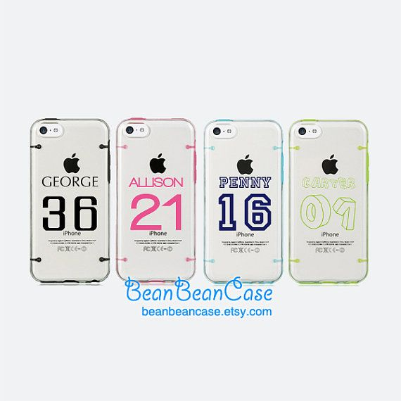 PERSONALIZED iPhone 6 case, iPhone 6 plus case, iPhone 5 5S 5C clear case, Basketball Player Name Number - Monogrammed custom name (L47)