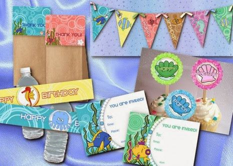Under the Sea Party Free Printable Kit.