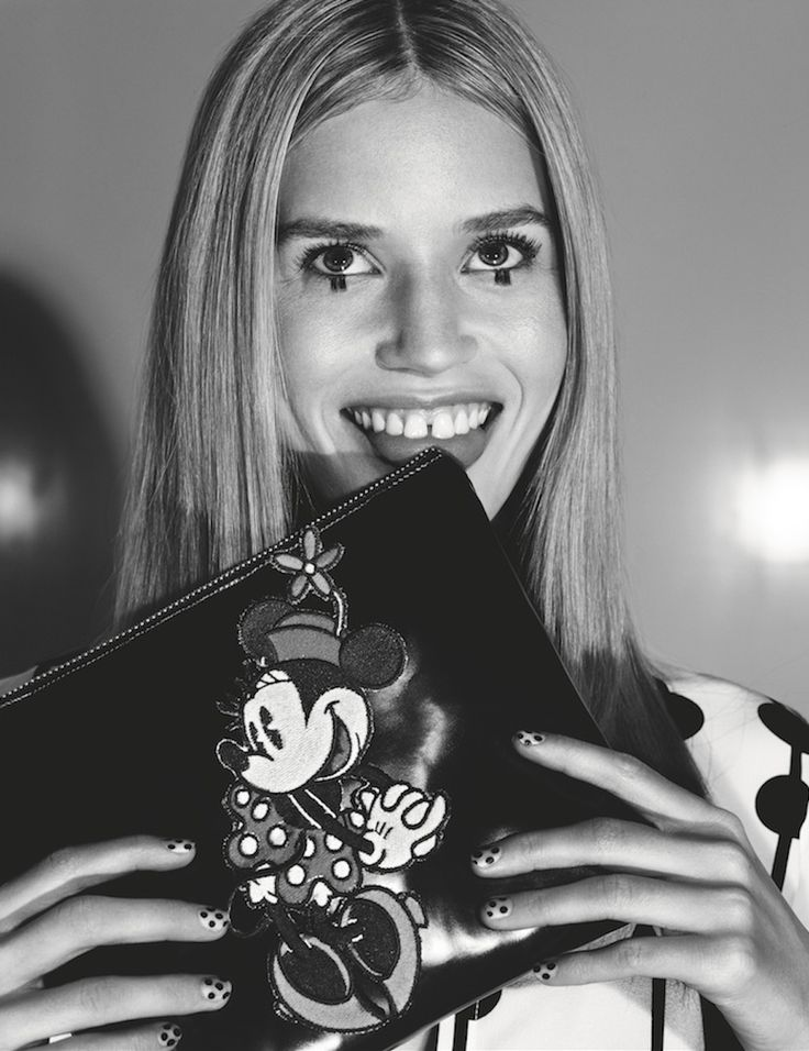 Heels+Ears Inspiration: Minnie Mouse is Georgia May Jagger's Fashion Muse   Fashion   Disney Style. Disney Fashion.