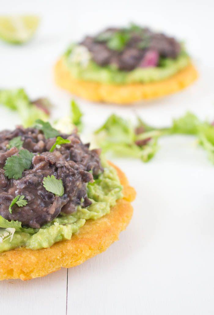 Sopes with Refried Black Beans | Veggie Love | Pinterest | Black Beans ...