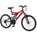kids boys 24 inch dual full suspension mountain bike bicycle overstock sale