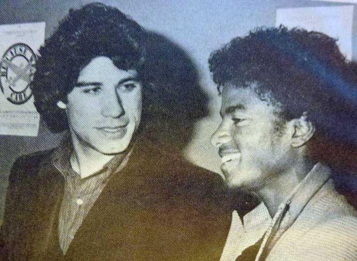 John Travolta and Michael Jackson at Studio 54 ~ August, 1977