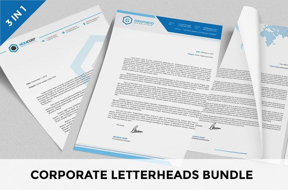 Corporate Letterheads Bundle vol.1 by nazdrag on @creativemarket