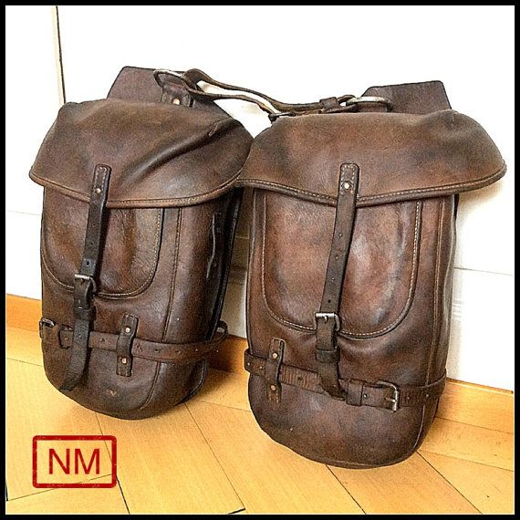 RESERVED FOR PSYCHOMOTO Vintage Swiss Army Connectable Saddle Bags - Horse or Motorcycle Side Bags of the Swiss Military in the 1920 -30s