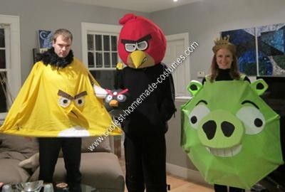 Homemade Angry Birds Halloween Group Costume: I have to admit, we were struggling to come up with a creative costume idea this year. We racked and racked our brains for something current and topical,