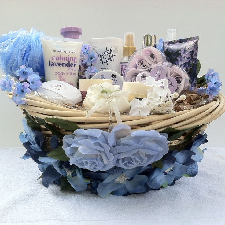 Vera Mae Gift Basket Collection Refreshing Lavender Rejuvenate and refine in our one of a kind basket includes bubble bath, shower gel, (2) body spray, (2) candles, body sponge, hand lotion, body lotion, bath crystal, cleansing body bar, soap rose petals, crystal light lemonade, and with our one of a kind finest decorative design basket just for you. Vera-Mae Collection (This Item Is Sold)