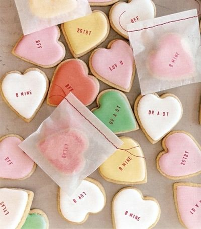 Conversation Heart Cookies. Recipe yields 70 2-inch cookies -- great for giving