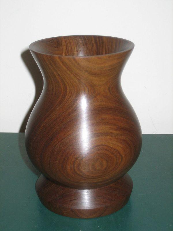 Wood vase turned in Vera Wood