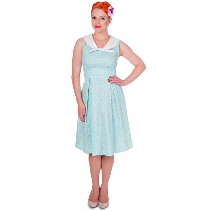 Sally klassieke jurk met witte polkadot