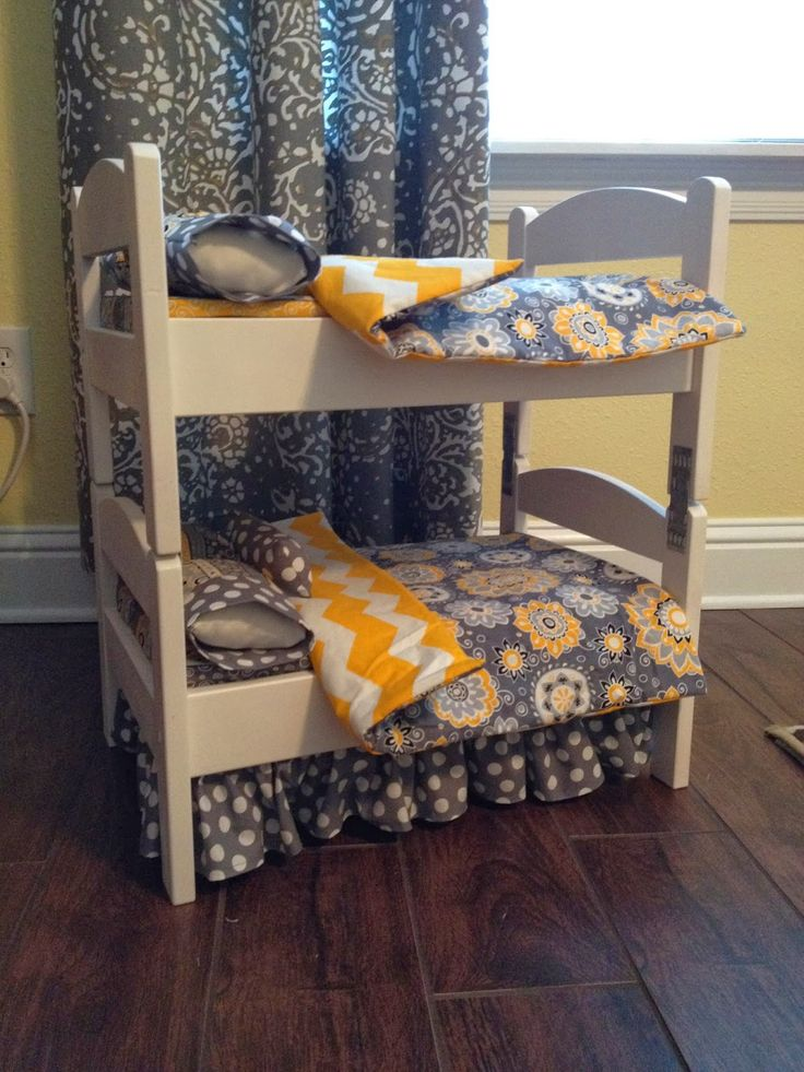 CraftyErin: AG bunk beds - super cute IKEA hack of the Duktig doll bed