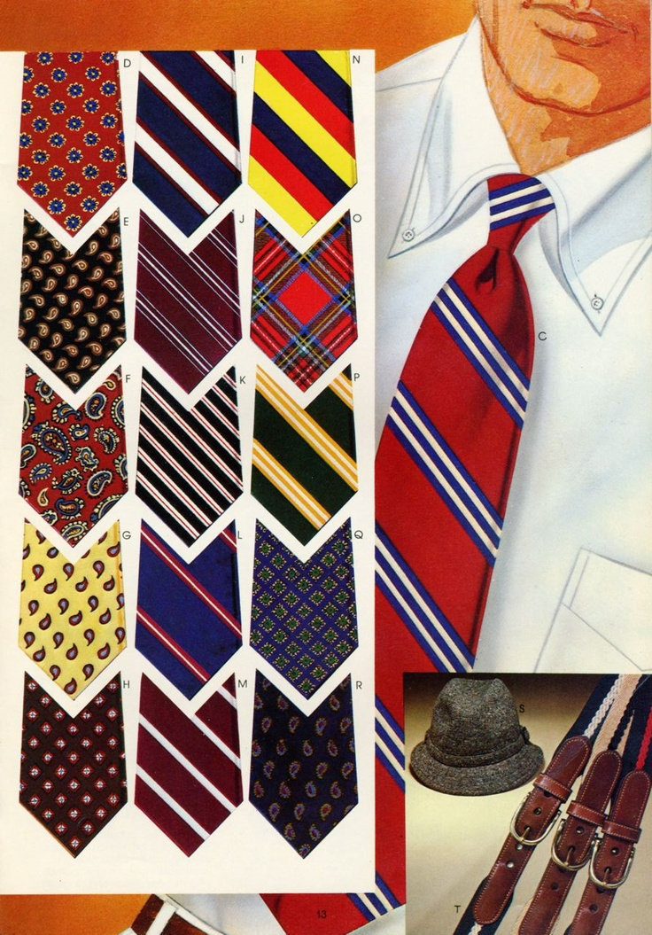 Brooks Brothers ties from the 1971 catalog
