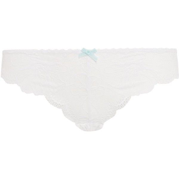 Heidi Klum Intimates Sabine bikini briefs ($14) ❤ liked on Polyvore featuring intimates, panties, white, women, swim bikini bottoms and white bikini bottoms