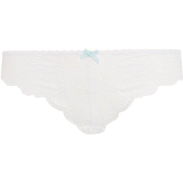 Heidi Klum Intimates Sabine bikini briefs ($14) ❤ liked on Polyvore featuring intimates, panties, white, women, swim bikini bottoms and white bikini bottoms