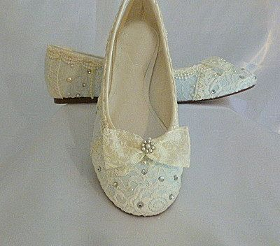 Something Blue Wedding Ballet flats..vintage lace and Swarovski crystals..custom orders <3 <3 <3