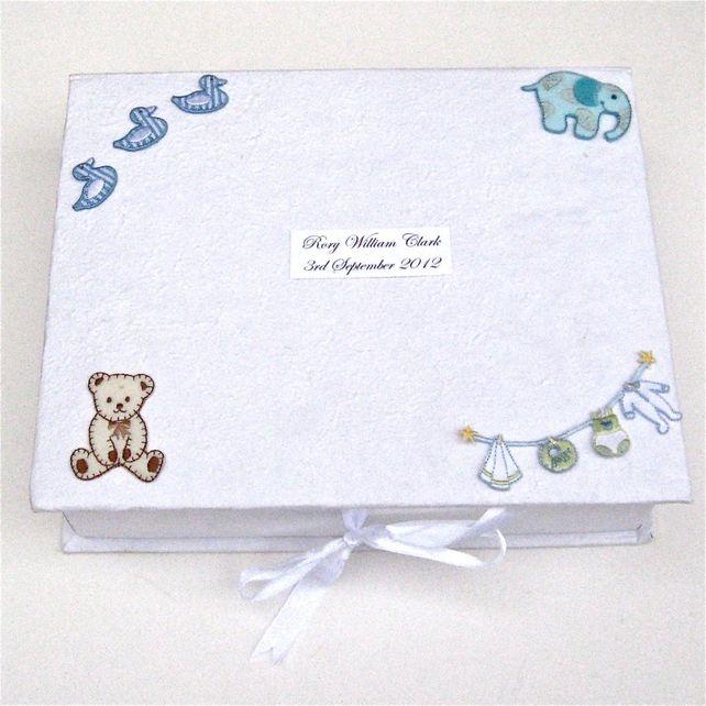 Personalised Baby Boyu0027s Keepsake Box £17.95  sc 1 st  Pinterest & 12 best Keepsake ideas for my niece images on Pinterest   Memories ... Aboutintivar.Com