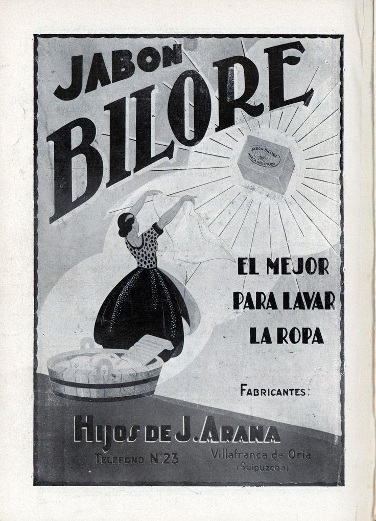 Jabón Bilore en Vida Vasca 01-01-1936
