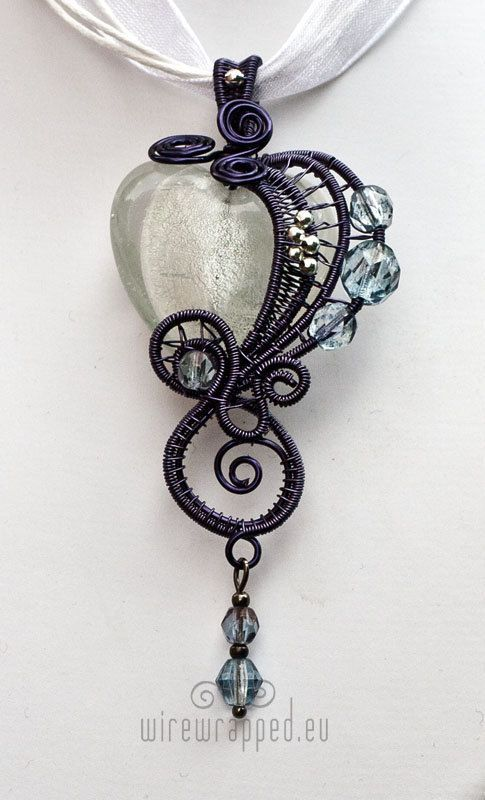 Black Wire wrapped quartz pendant  Custom Logo  Logo designer on Etsy! www.etsy.com/...