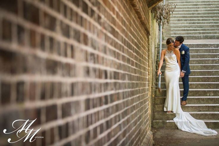 Caterina & Sam Caterina wears a gorgeous Johanna Johnson gown <3